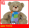 The latest romantic plush bear toy custom teddy bear with crochet scarf