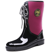 horse sex with women lace-up fashion custom logo rain boots