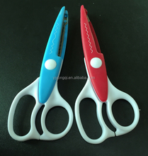 "Stock Serrated Craft Scissors 6"" With Wave"