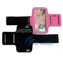 Sport armband jogging case velcro arm band mobile phone case for iphone