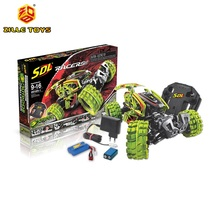 ZILLE SDL RACER 2012A-1 RC STUNT CAR SELF ASSEMBLY TO DIFFERENT SHAPE DIY FLIP TOYS