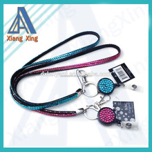 new products 2014 bling sparkling rhinestone crystal lanyards