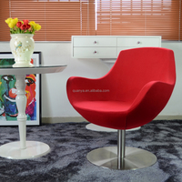 2016 ergonomic armchair, cashmere living room chairs, rotary chair