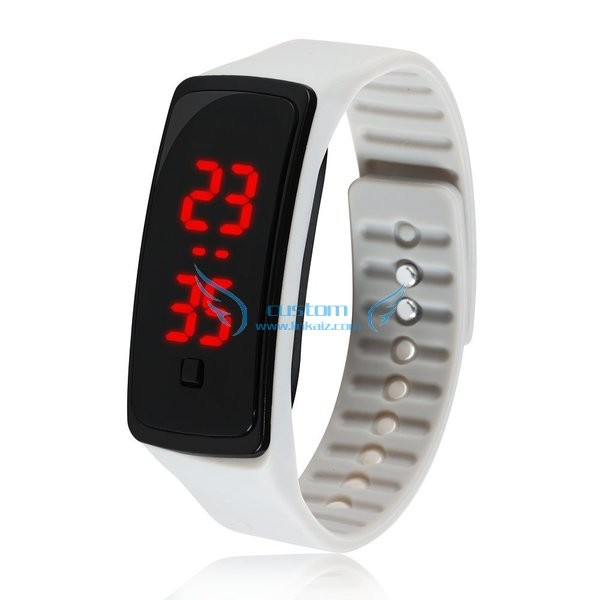 Colorful cheap silicone rubber wristband led watch in bulk