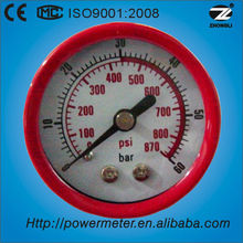 (Y40-Z) 40mm red steel case bourdon tube type general air pressure gauge