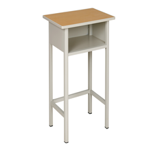 school mini desk and child desk with wood desk top and steel tube