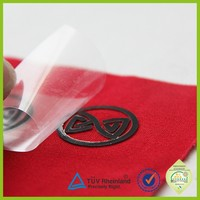 Customized patch pvc rubber heat seal iron on clothing label