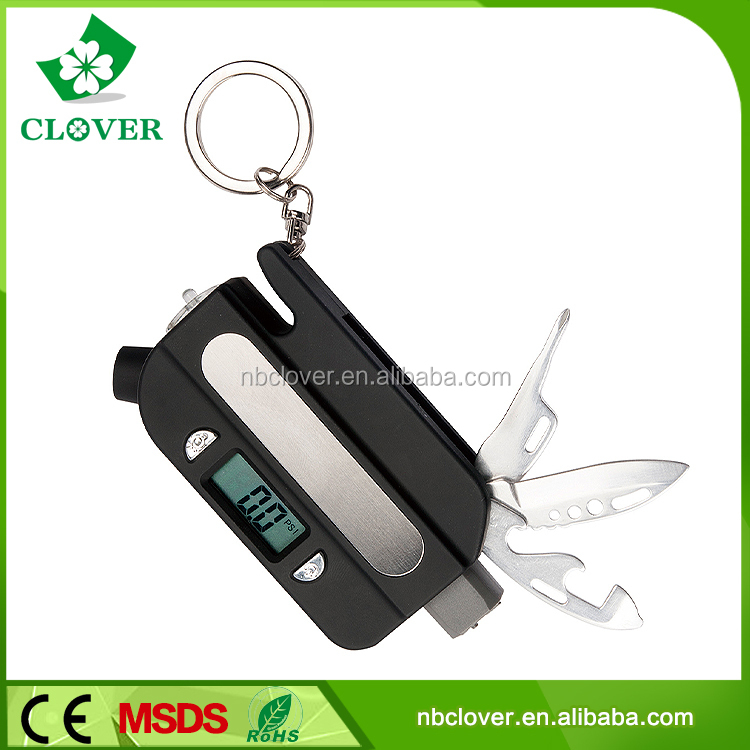 With simple tools plastic tyre pressure gauge for car or bike