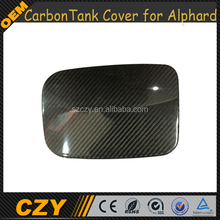 High Quality Carbon Fiber Car Fuel Tank Door Cover Cap for TOYOTA alphard 2012