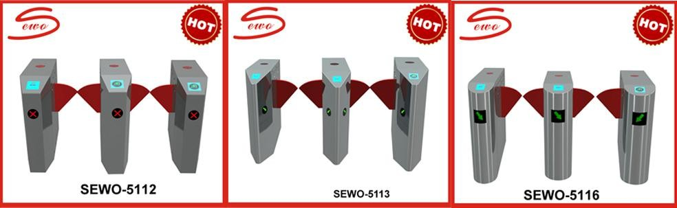 NO VOICE Brushless Motor 0.3sec Fast Speed Flap barrier gate for Metro Access Control