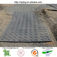 Hdpe temporary floor protection mats/track road construction matte plastic polyethylene