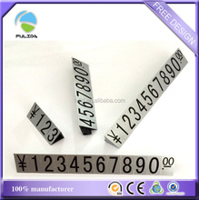 Custom ABS Plastic Print Stand Commodity Price Digital Number Bar Tags