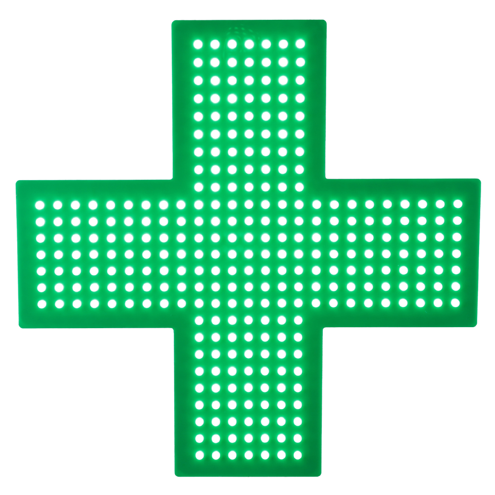 Hot Sale Cheap Price Indoor 48cm x 48cm Acrylic Flash Green Color Pharmacy Cross <strong>Led</strong> <strong>Display</strong> 49USD