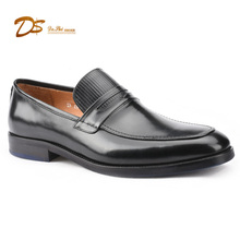 Wholesale Low Designer Penny Loafer Comfortable High Quality Cow Leather Black Men Geniune Leather Shoes