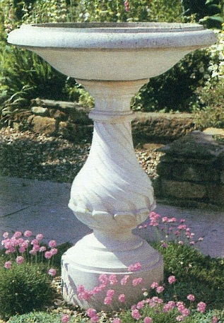 White Stone Flower Vase and Pot