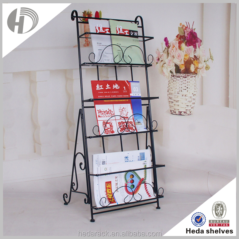 3 tier metal wire magazine rack
