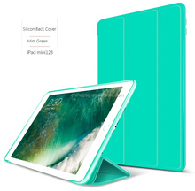 Soft TPU Cover Case for iPad, Smart Flip Case for iPad Mini, Folio Case for iPad Mini123