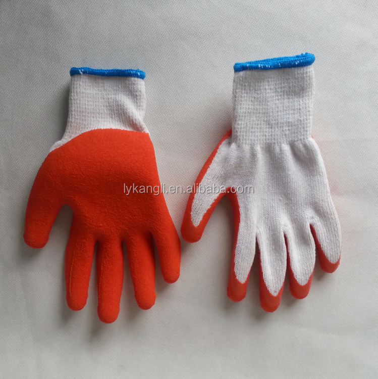Industrial grade latex coated cotton puncture resistant gloves factory