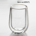 Promotional Gift Tableware Advanced Double Wall Glass Coffee Mugs Wholesale
