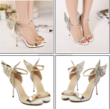 Colorful butterfly wings shoes mixed colors fine with high-heeled sandals(BH15070022)