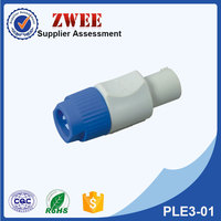 Lockable cable connector, power-in powercon plug with UL certification manufacturer