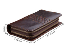 8021C Double Zipper Wallet with Cell Phone Pocket