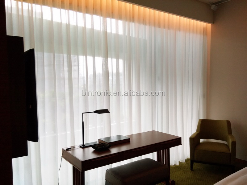 Bintronic home decorative motorized custom drapes