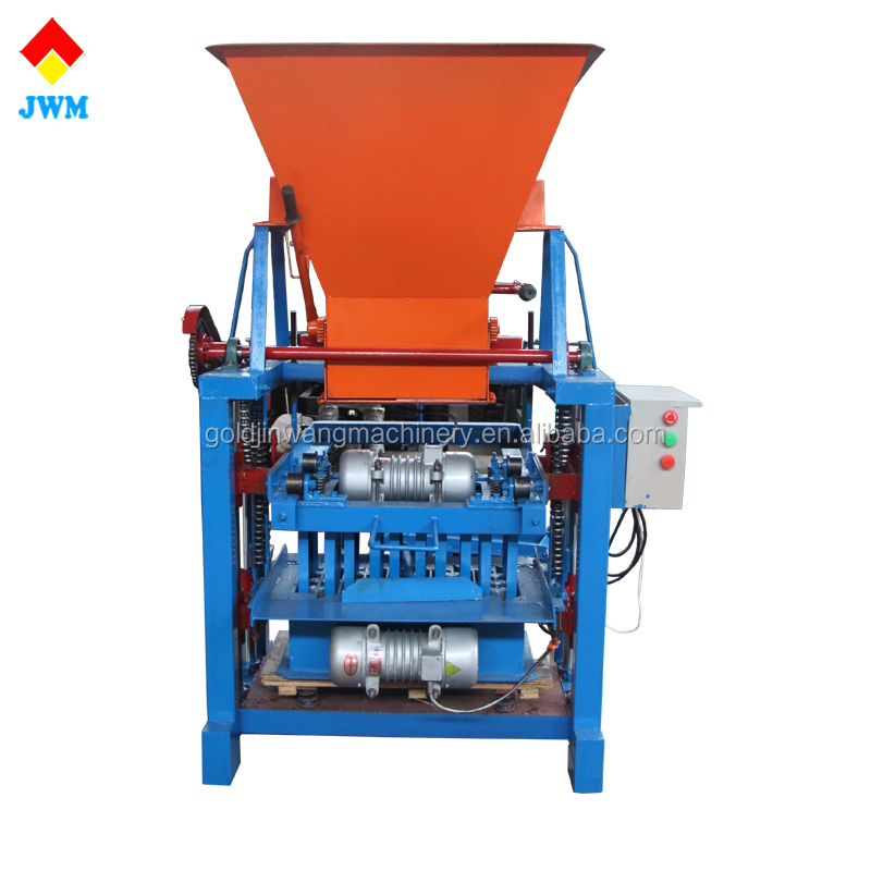 automatic cement paving interlocking hollow brick concrete block making machine price