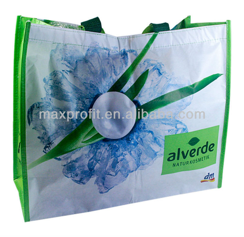 MaxProfit PP Color Shopping Bag with 2 handle customized logo printing