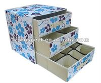 OEM home fabric non woven folding storage drawer organizer