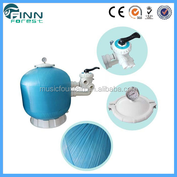 2016 Factory supply fiberglass swimming pool sand filter and pump water