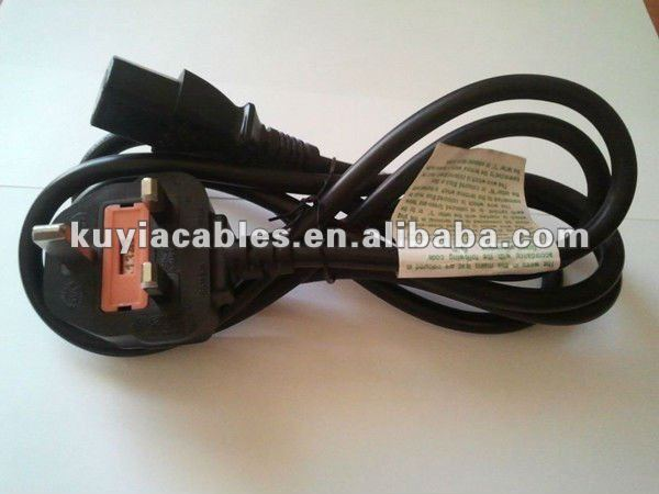UK Hot Sell SP-62 Electronics Power Cord Cable For PC 13A To 10A 250V~ IEC S3 RVV