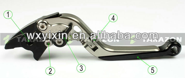 CNC Billet Aluminum alloy adjustable brake and clutch lever for NXR 125 BROS KS