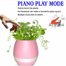 Plant Flower Pot Innovative Gift House Decor Bluetooth Music ABS Plastic Planter
