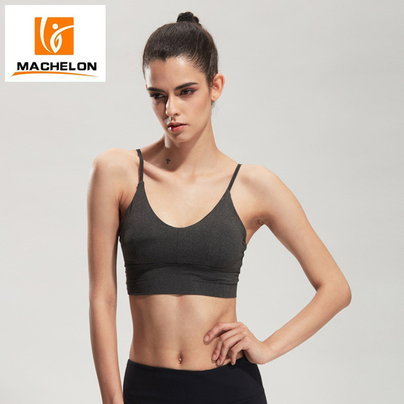 Woman's soft seamless comfortable light support sport bra premium quality non-slik strap push up yoga underwear fitness bra