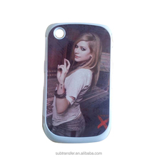 Cheapest price alu sublimation plastic phone case for Blackberry 8520