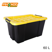 High-capacity plastic container 16gallon storage tool box