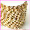 wholesale rhinestone cup chain pearl fancy rhinestone cup chain