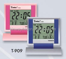 promotion gift square desk digital thermometer clock