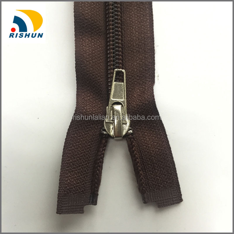5# nylon zipper open end plastic bottom stop