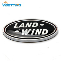 Replacement Front Grille Emblem Black Oval Badge for Land Rover LR3 Sport Range Rover Discovery