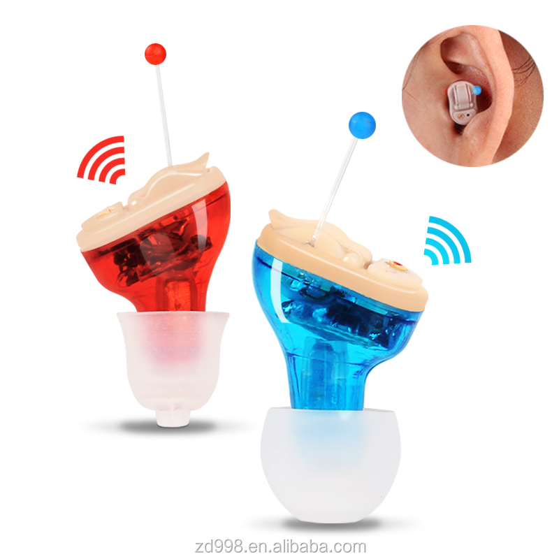 A Pair Hearing Aid Device In Ear Sound Voice Amplifier For Ear