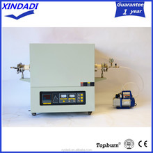 1400 degree silicon carbide vacuum horizontal electric laboratory tube furnace for heat treatment