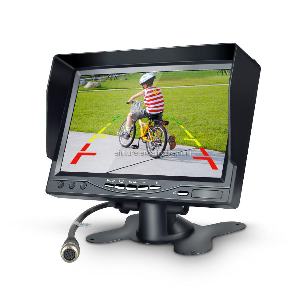 "Hot sell 7"" inch TFT LCD Color Car Rear view Monitor For DVD VCR Camera with Remote Control"