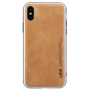 New Arrival Amazon Luxury Genuine Leather Custom Logo Mobile Phone Case For Iphone X