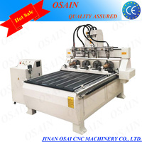 Chinese 1325 4 Axis 3D ATC Stone / Woodworking CNC Router With Rotarys