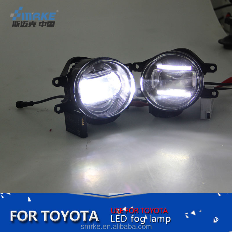 High Power LED fog lamp for Toyota corolla/altis led drl with projector lens LED Foglights