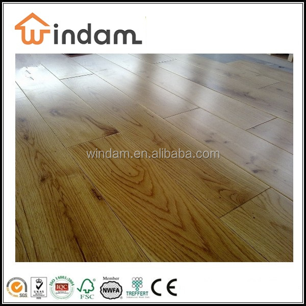 Natural color solid wood parquet flooring oak