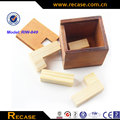 Secret hot sell wooden blocks cute dark wooden color wooden puzzle games