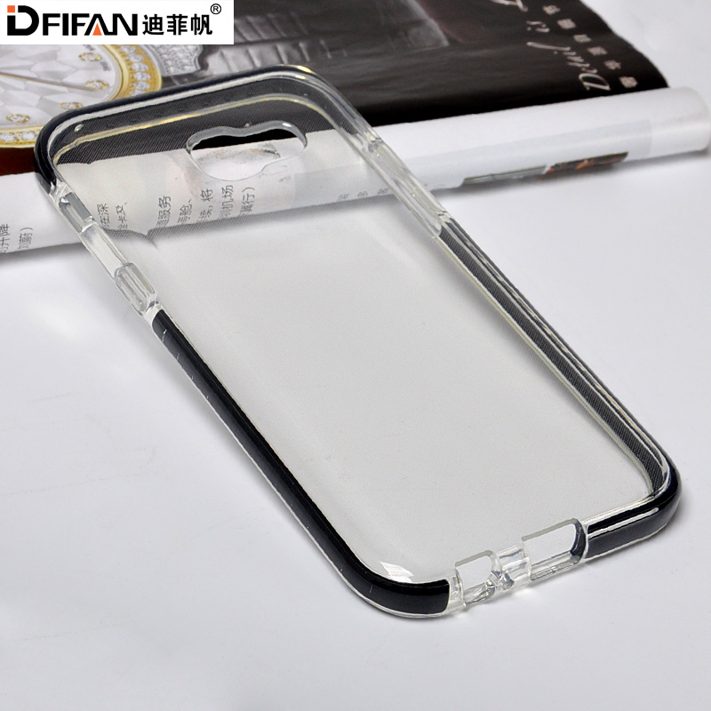 Durable mobile back cover for samsung galaxy s7 plastic tpu transparent phone case for samsung s7